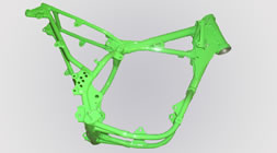 Motorcycle frame repairs and powdercoating