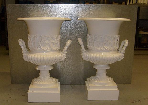 Cast iron urns