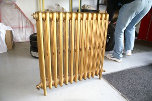 Powdercoated radiator